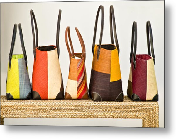 Hand Bags Capri Italy Metal Print by Xavier Cardell