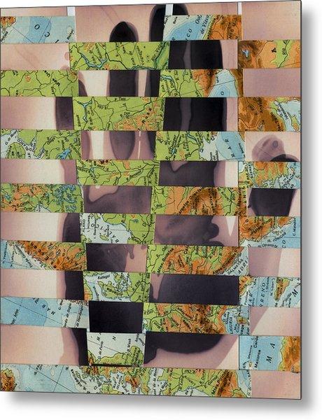 Hand Collage 2 Metal Print