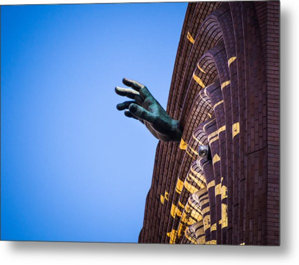 Hand On My Time Metal Print