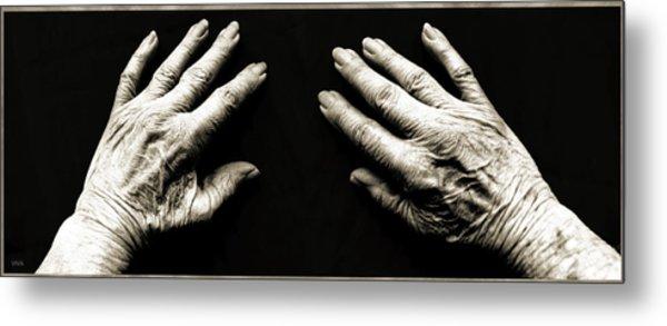 Hands  -  Stark  Reality - Photo  Metal Print