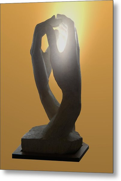 Hands By Rodin Metal Print