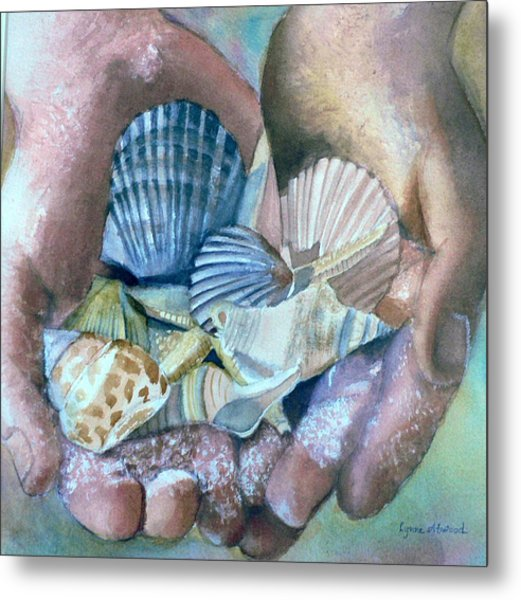 Hands With Shells Metal Print