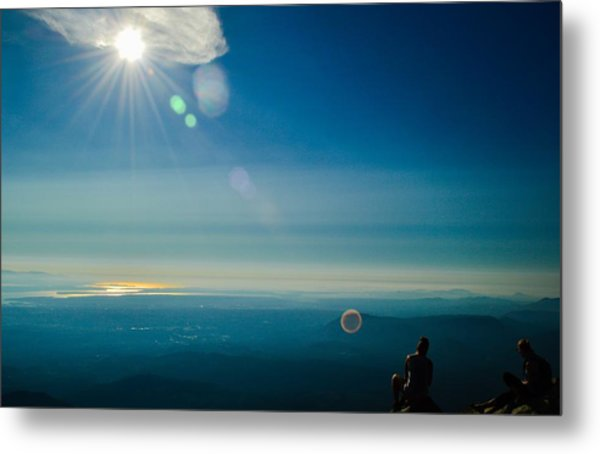 Hanging Out On The Summit Metal Print