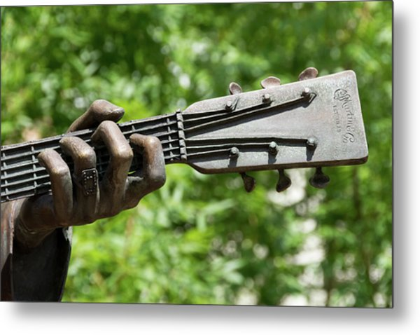 Hank Williams Hand And Guitar Metal Print