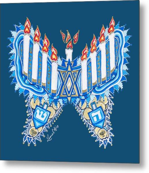 Hanukkah Butterfly Metal Print