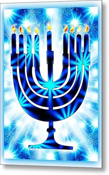 Hanukkah Greeting Card Ix Metal Print