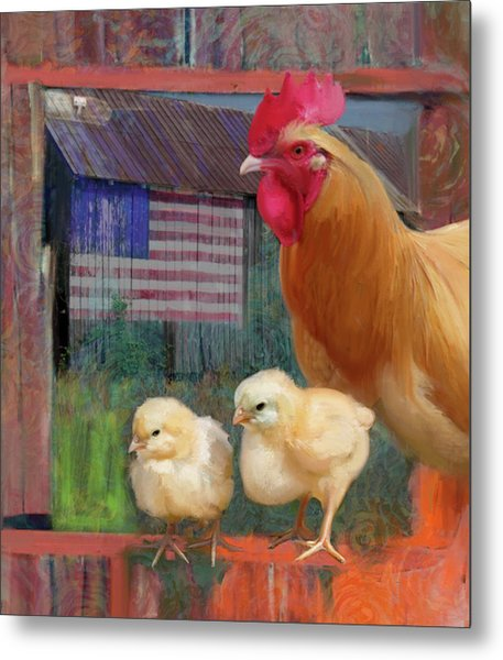 Happy Chicken  Metal Print