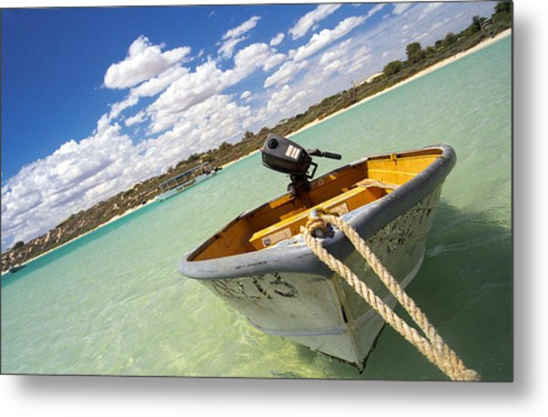 Metal Print featuring the photograph Happy Dinghy by T Brian Jones