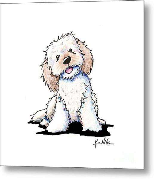 Happy Doodle Puppy Metal Print