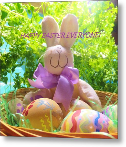 Happy Easter Everyone Metal Print