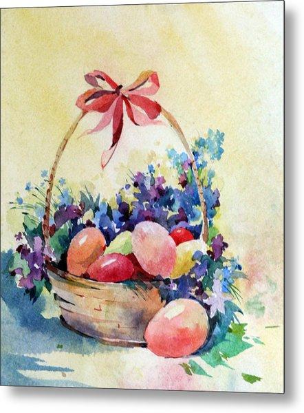 Happy Easter Metal Print by Natalia Eremeyeva Duarte