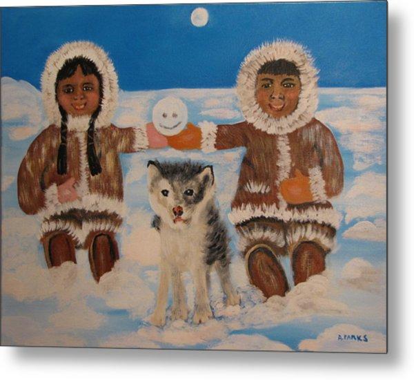 Happy Eskimo's Metal Print