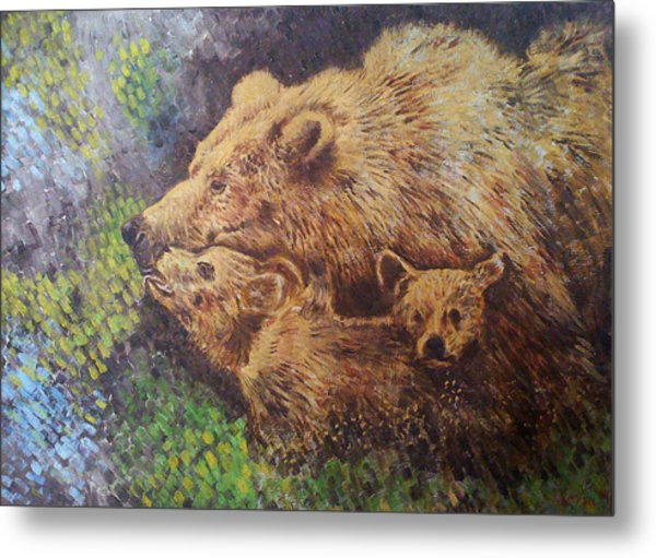 Grizzly Bear Metal Print by Remy Francis