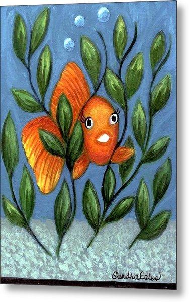 Happy Goldfish Metal Print