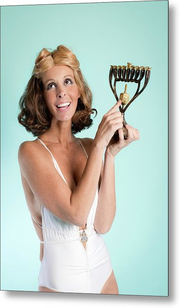 Happy Hanukkah 3 Metal Print