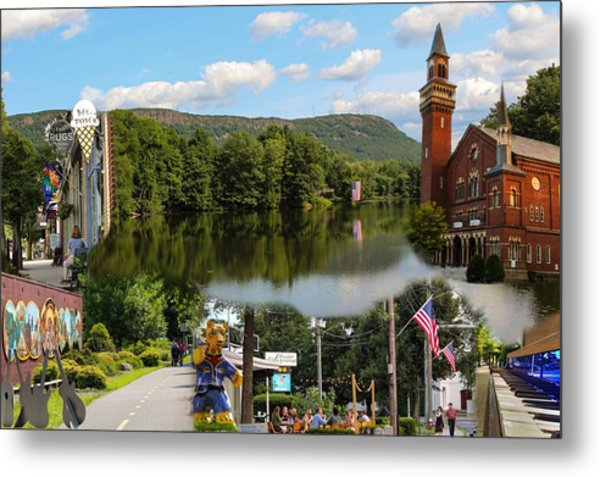 Happy In Easthampton Collage Metal Print