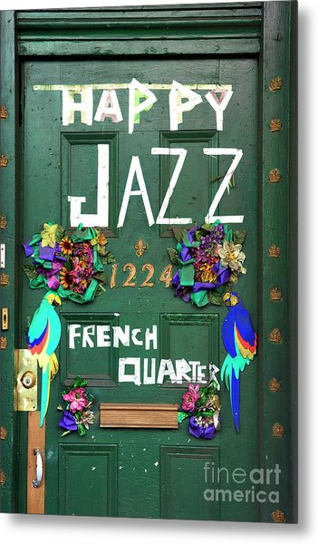Happy Jazz French Quarter New Orleans Metal Print