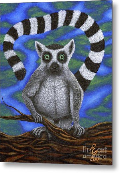 Happy Lemur Metal Print
