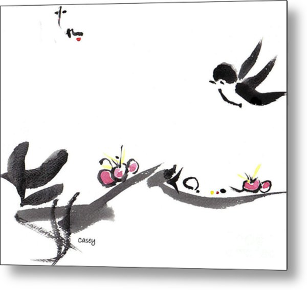 Happy Little Swallow Metal Print