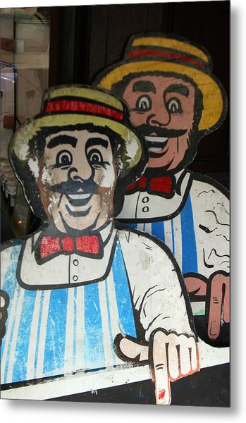 happy meat Makers Metal Print by Jez C Self