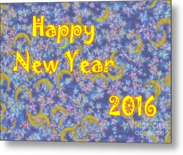 Happy New Year 2016 Metal Print