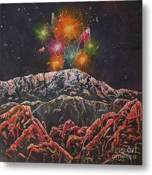 Happy New Year From America's Mountain Metal Print
