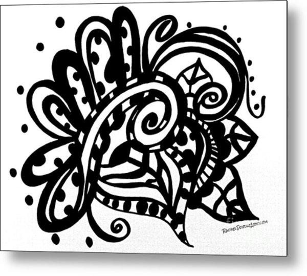 Metal Print featuring the drawing Happy Swirl Doodle by Rachel Maynard