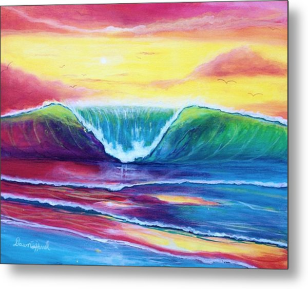 Happy Wave Metal Print