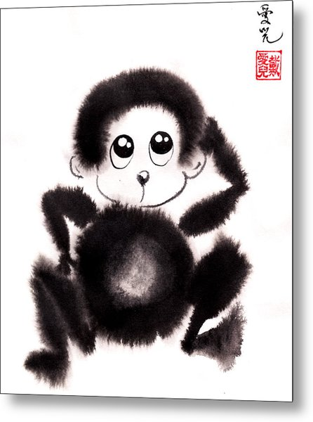 Happy Year Of The Monkey Metal Print