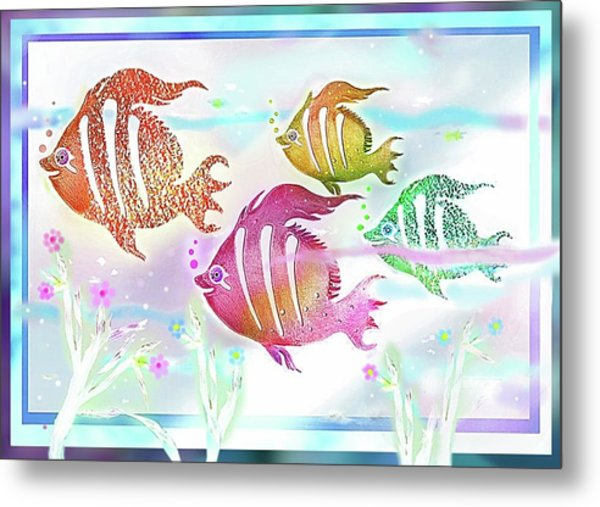 Metal Print featuring the digital art Happiness Is A Clean Ocean  by Hartmut Jager
