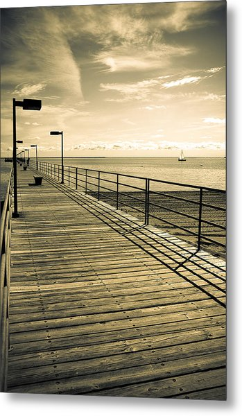 Harbor Beach Michigan Boardwalk Metal Print
