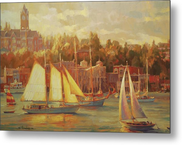 Harbor Faire Metal Print