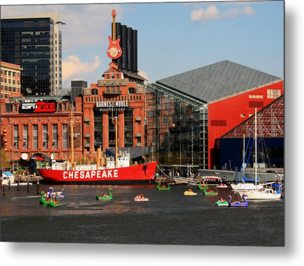 Harbor Fun Metal Print