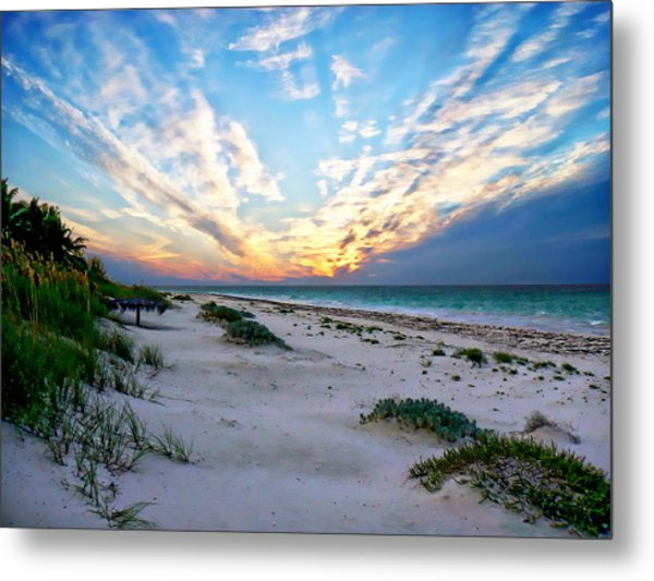 Harbor Island Sunset Metal Print