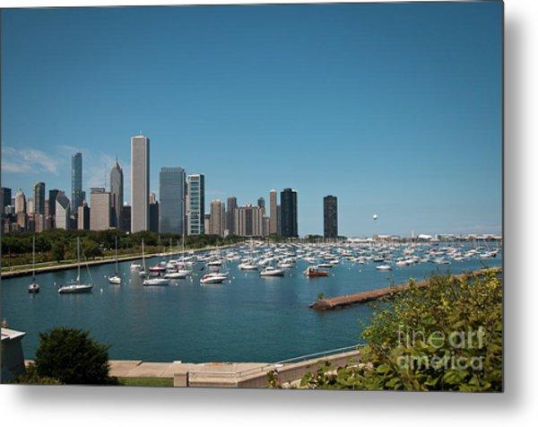 Harbor Parking In Chicago Metal Print