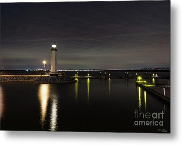 Harbor Rockwall Lighthouse Metal Print