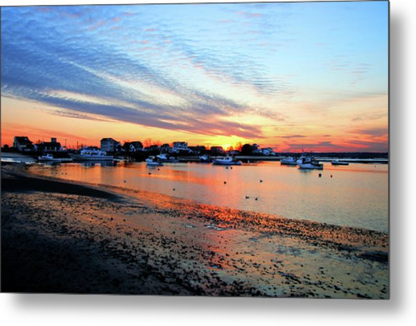 Harbor Sunset At Low Tide Metal Print