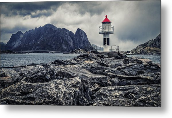 Harbour Lighthouse Metal Print