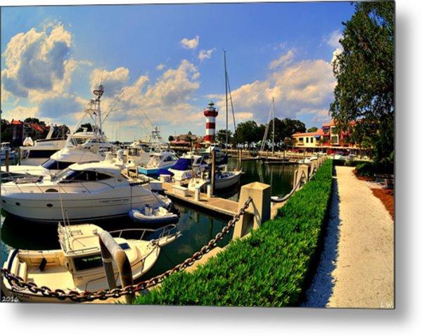 Harbour Town Marina Sea Pines Resort Hilton Head Sc Metal Print