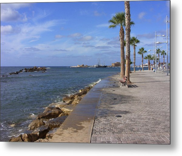 Harbour Walk Metal Print