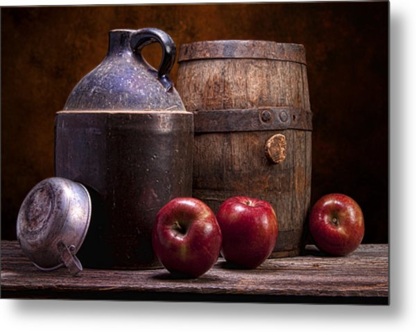 Hard Cider Still Life Metal Print
