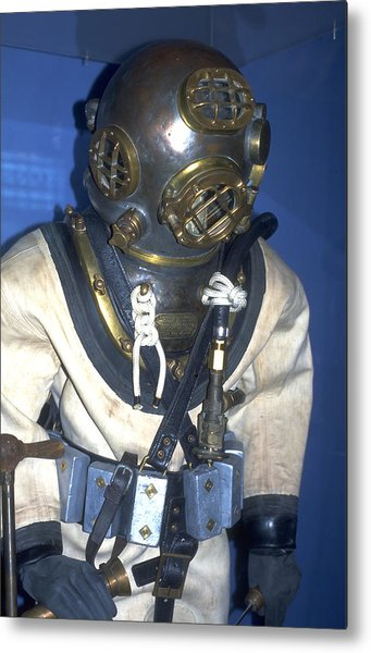 Hard Hat Diving Suit Metal Print by Carl Purcell