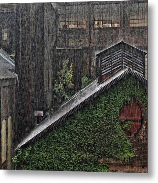 Hard Rain Metal Print