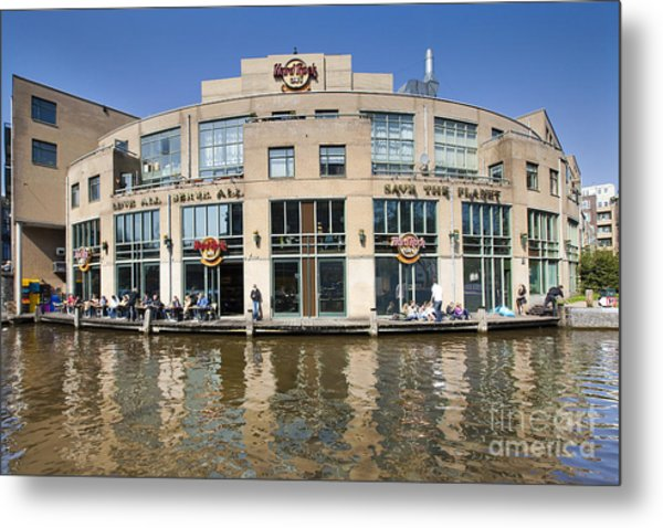 Hard Rock Cafe In Amsterdam Metal Print by Andre Goncalves