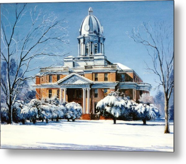 Hardin County Courthouse Metal Print