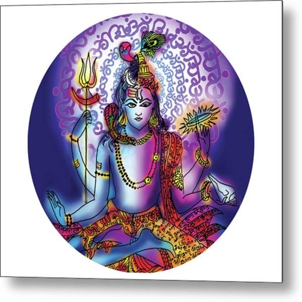 Hari Hara Krishna Vishnu Metal Print