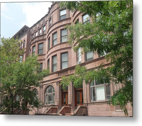 Harlem Brownstones Metal Print