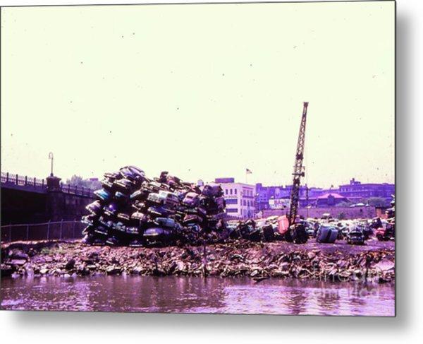Harlem River Junkyard Metal Print
