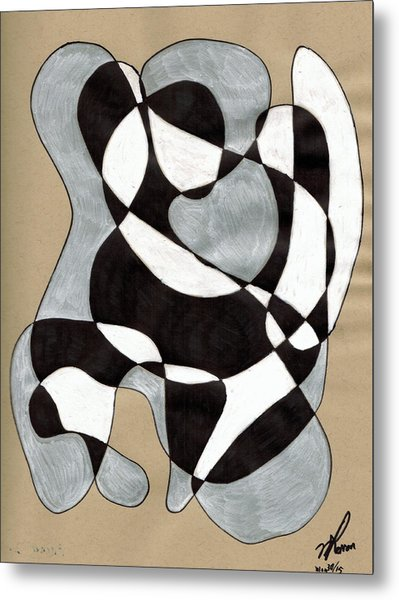 Harlequin Abtracted Metal Print