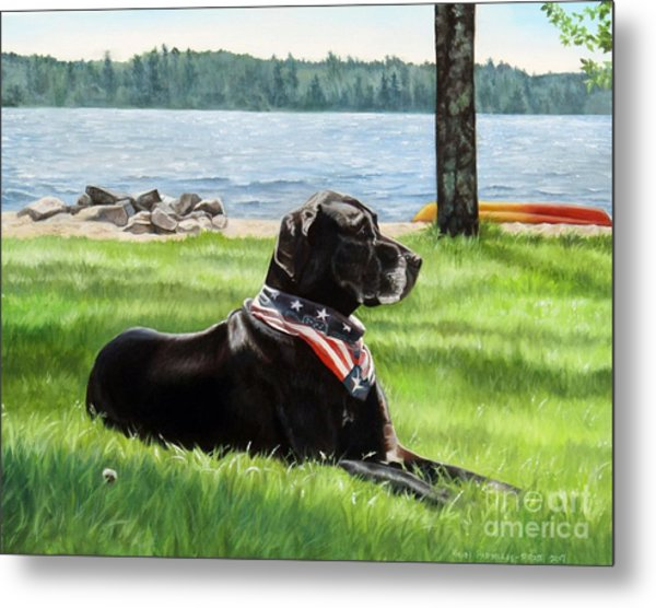 Harley At The Beach Metal Print